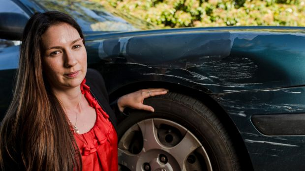 Erika Bacon's car was hit by a vehicle driven by a Russian diplomat.