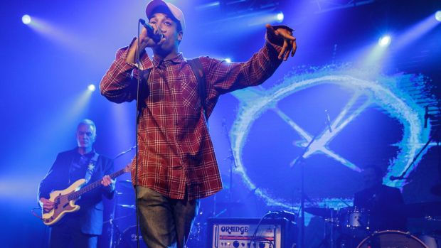 Remi performs with the EG AllStars during the 2016 The Age Music Victoria Awards, at 170 Russell, Melbourne. November ...