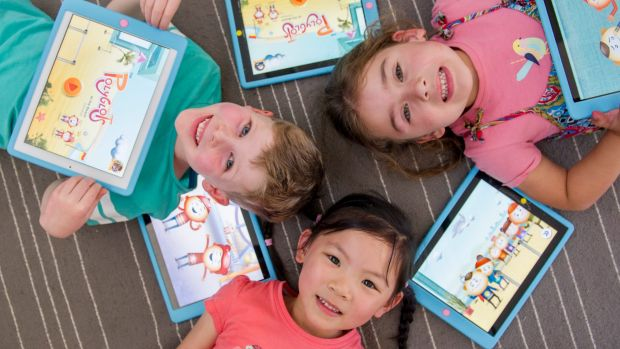 Mawson Preschool students Tommy McCorry, Zoe McDonald and Ella Chew are learning mandarin with the help of a federal ...