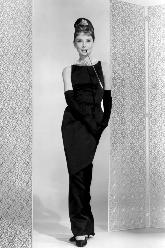 Audrey Hepburn in Givenchy in the 1961 film, Breakfast at Tiffany's.