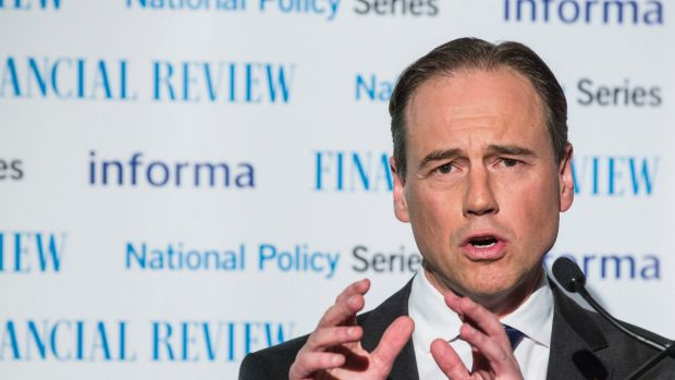 Science Minister Greg Hunt speaking in August.