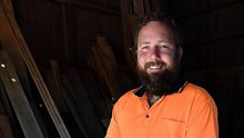 Former senator Ricky Muir at his newly purchased Wood Mill in Heyfield. 17th November 2016. The Age Fairfaxmedia News ...
