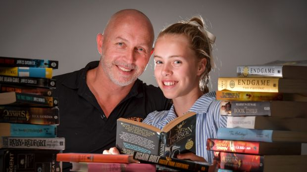 Rod Brooks and his daughter Madi, a year 7 student who was offered four school scholarships.