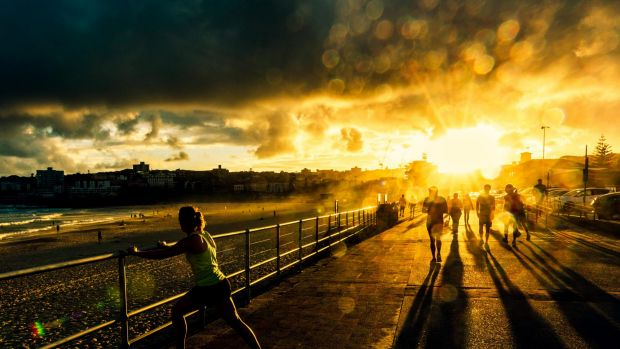 "Jonathan Armstrong won the ""landscapes and weather"" category with <i>Last Rays</i>, which was taken at Bondi Beach."