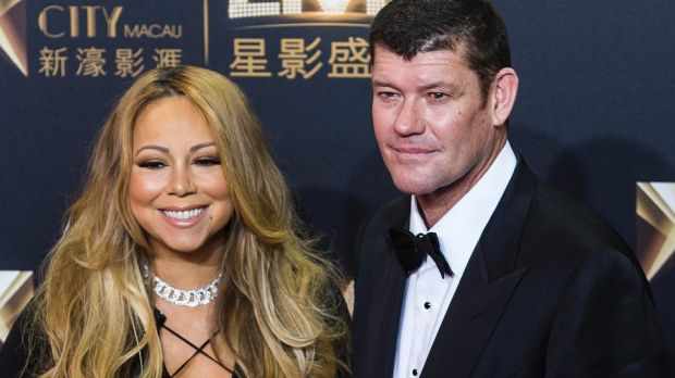 Life's one big drama for Mariah Carey, pictured with her ex James Packer.