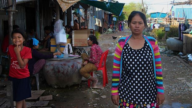 In the flood-prone squatter settlement village on the outskirts of the Cambodian capital, Hour Vanny says she was ...