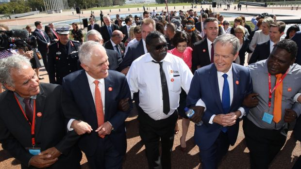 Prime Minister Malcolm Turnbull and Opposition Leader Bill Shorten came together last month to link arms in support of ...