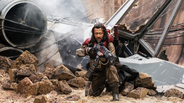 Wen Jiang as Baze Malbus in <i>Rogue One: A Star Wars Story</i>.