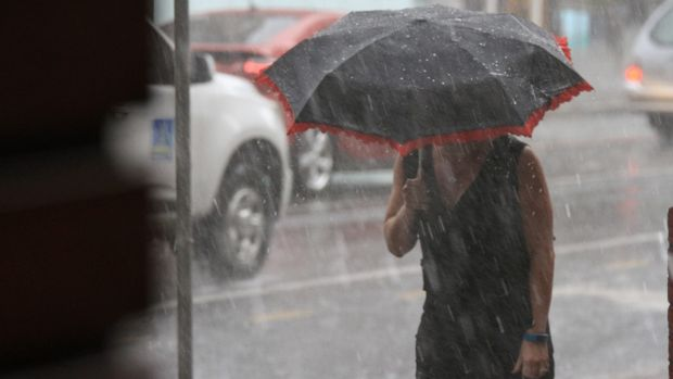 Brisbane could cop more than 100 millimetres of rain on Friday.