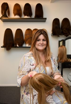 Sarah Christian, owner of luxury wig shop The Beautiful Hair Boutique, herself has alopecia.