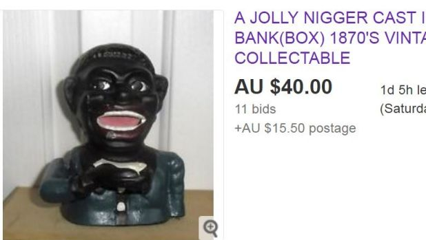 Many online listings feature racist, sexist and homophobic goods for sale.