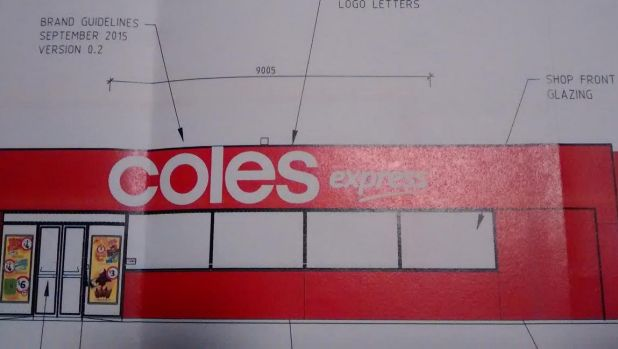 The original application to the City of Swan featured Coles Express branding on the service station, which has since ...