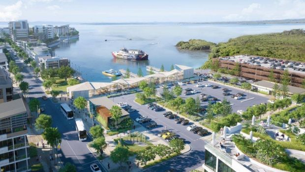 Cleveland's new Toondah Harbour latest concept plans by the Walker Group, December 2016.