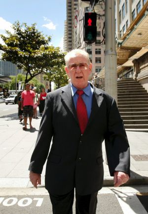 Brian Spillane leaves the Downing Centre Court in 2009.