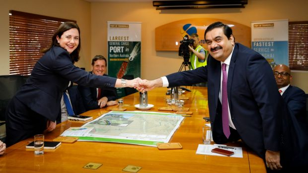 Palaszczuk to compromise on Adani royalty deal