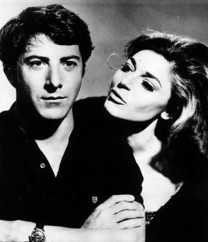 """Dustin Hoffman and Anne Bancroft in a still from The Graduate, one of the most classic examples of the """"predatory older ..."""