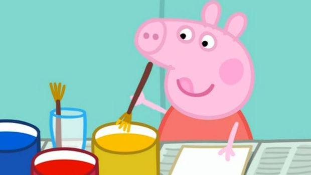 Peppa Pig is produced in Britain and is aired locally on the ABC.
