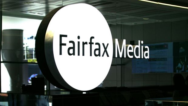 Fairfax Media shares dropped 17 per cent on opening to 91.5 cents, then stabilised to close at 98.5 cents on Monday.