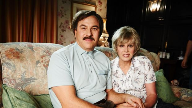 David Walliams and Joanna Lumley in Walliams and Friend.