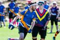 Game on: ANU Owls v South Australia Bunyips competing in the Australian Quidditch championships at the AIS. ANU's Ben ...