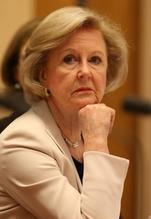 President of the Australian Human Rights Commission Gillian Triggs appears before a Senate committee at Parliament House ...