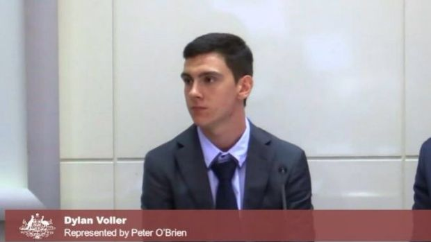 Dylan Voller speaking at the royal commission.