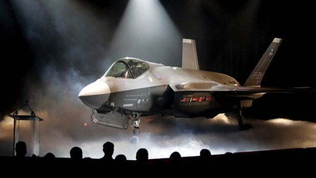 The Lockheed Martin F-35 Joint Strike Fighter is unveiled in Fort Worth, Texas, in 2016.