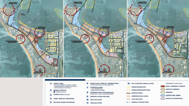 Concept plans from 2006 show canal were part of designs from the beginning.