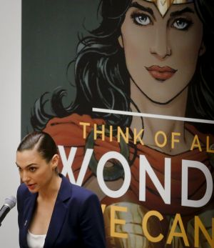 "Gal Gadot at the launch of the ""Honorary Ambassador for the Empowerment of Women and Girls"" in October."