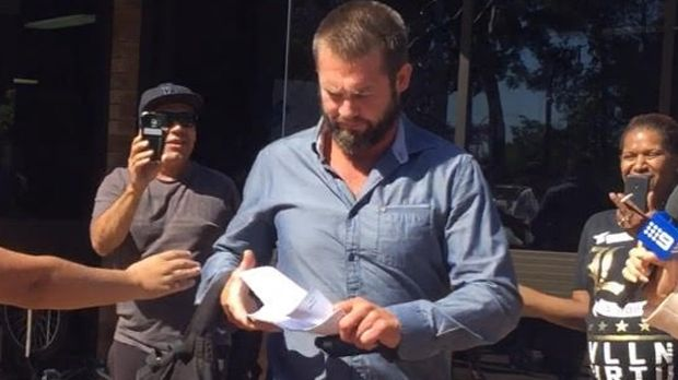 Ben Cousins leaves Armadale court recently.