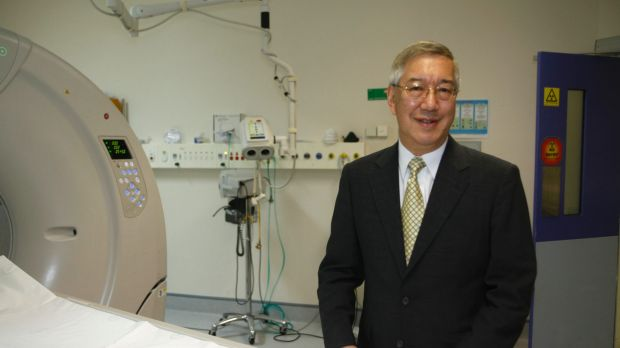 Gilman Wong, chief executive of Sirtex, at St Vincent's Hospital Sydney in 2011.