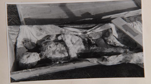 A purported image of Lin Biao's decomposing body.
