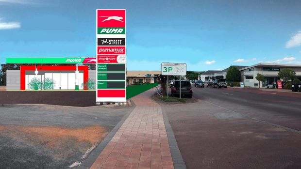 An artist's impression of what the proposed convenience store would look like.