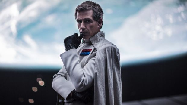 Mendelsohn as Director Krennic in Rogue One: A Star Wars Story.