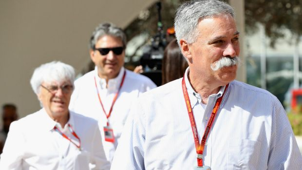 Chase Carey (right) has new plans for Formula One.