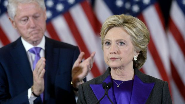 2016 presidential candidate and former Secretary of State Hillary Clinton with husband Bill.