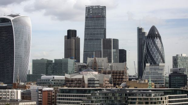 "Hong Kong investors recently bought London's Leadenhall building (centre), also known as the ""Cheesegrater''."