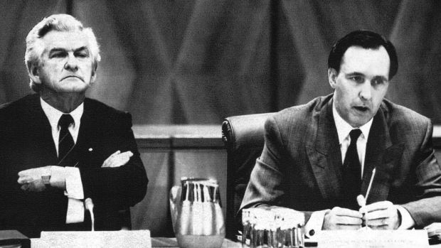 """The recession we had to have"": Bob Hawke and his Treasurer Paul Keating battled Australia's last recession, which paved ..."