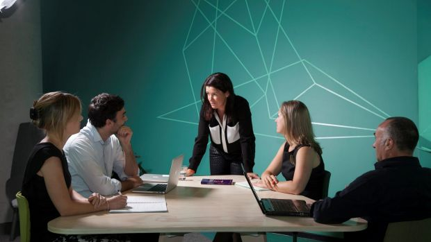 Gabrielle Dolan (centre) warns against the use of business jargon.