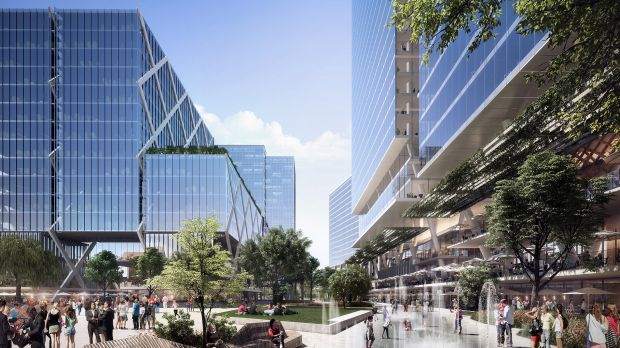 An artist's impression of the vision for Parramatta Square.