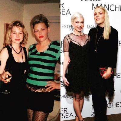 """Busy Philipps shared this then-and-now collage with her A-list best friend, Michelle Williams. """"I love that we almost ..."""
