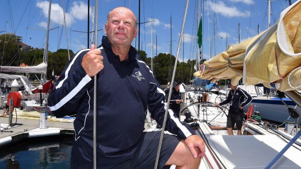 Pelagic Magic crew member former AFP commissioner Shane Connelly preparing for the Sydney to Hobart race at the Cruising ...