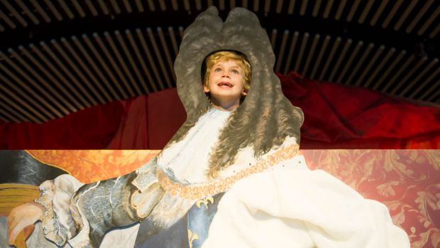 The Louie Reeder,5,of Aranda in the Versailles-themed kids space is opening at the NGA.