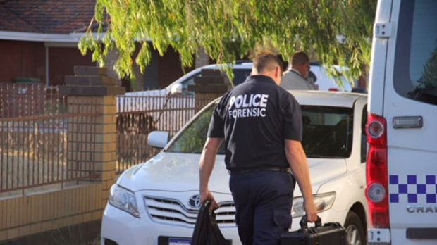 Forensic police searched the home, which is believed to be linked to the Claremont investigation.