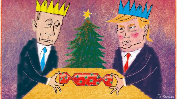 There's no way that Vladimir Putin is going to war with his pal Donald Trump.