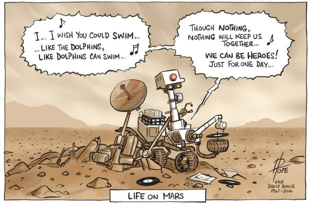 "Life on Mars: ""David Bowie died, and while I did not have that personal connection to his art and music  that many ..."