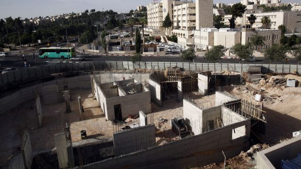 Israeli construction on land owned by Palestinian Mohammad Abu Taa, in east Jerusalem. Abu Taa discovered some years ago ...
