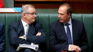 Treasurer Scott Morrison and Immigration Minister Peter Dutton have flagged a new battleground in the wake of same-sex ...