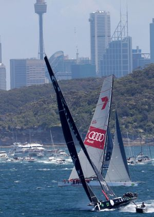 Perpetual Loyal leads Wild Oats XI out of Sydney Heads.