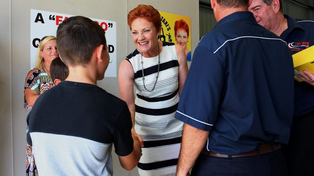 Pauline Hanson said she's still in control of her party, which has seen three Queensland candidates quit or dumped since ...